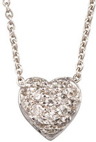Roberto Coin Pave Puffed Heart Necklace