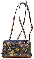 Patricia Nash Denim Fields Collection Andria Floral Cross-Body Wallet