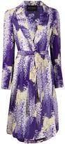 Etro butterfly print midi coat