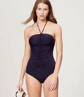 LOFT Beach Halter One Piece Swimsuit