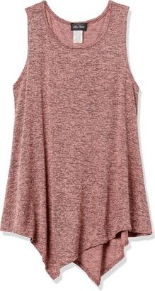 Star Vixen Women's Petite Slvless Classic Flattering Hanky Hem Sweater Knit Top