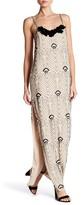 Haute Hippie Jet Silk Beaded Maxi Dress