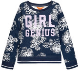 Joe Fresh Graphic Print Crew Sweatshirt (Big Girls)