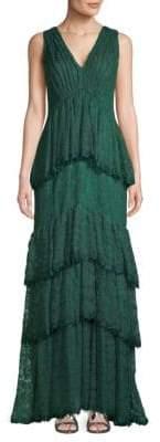Tadashi Shoji Tiered Lace Gown