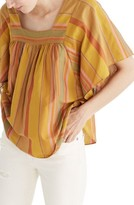 Madewell Women's Striped Butterfly Blouse