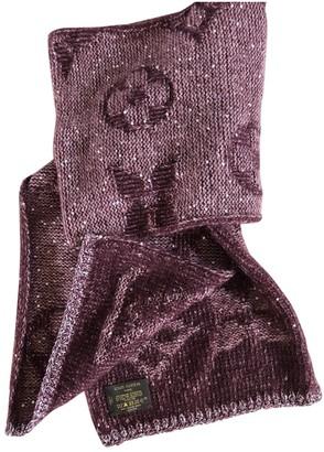Louis Vuitton Burgundy Wool Scarves