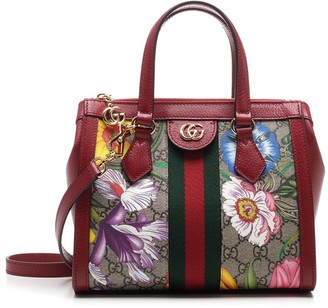 Gucci Ophidia GG Flora Small Top Handle Bag