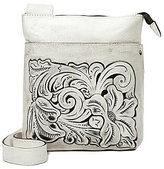 Patricia Nash Vintage White Washed Collection Stipes Cross-Body Bag