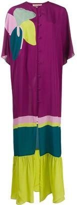 Adriana Degreas Floral Print Kaftan Dress