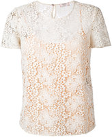 Max Mara layered lace top - women - Polyester - 44