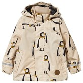Mini Rodini Beige Edelweiss Penguin Hooded Raincoat