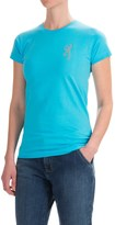 Browning Jewel Buckmark Fitted T-Shirt - Short Sleeve (For Women)