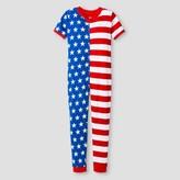 Snooze Button Kids Unisex Union Suit Pajamas Stars & Stripes