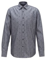 BOSS Regular-fit shirt in fil coupe cotton