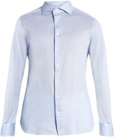 Ermenegildo Zegna Long-sleeved cotton-piqué shirt