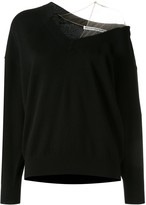 Alexander Wang cold shoulder asymmetric jumper