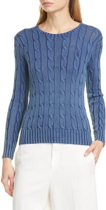 Polo Ralph Lauren Juliana Cable Knit Cotton Sweater