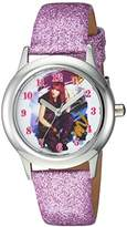 Disney Girl's 'Descendants 2' Quartz Stainless Steel Casual Watch, Color:Purple (Model: WDS000247)