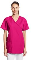 Cherokee Women's Workwear Scrubs Tie-Back Mock-Wrap Tunic