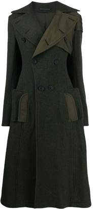 Yohji Yamamoto flared pannelled coat