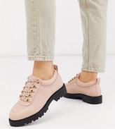 BEIGE Asos Design ASOS DESIGN Wide Fit Vacate chunky hiker flat shoes in