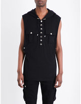Balmain Hooded Cotton-jersey Top