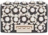 Zac Posen mini flower embellished clutch - women - Calf Leather - One Size