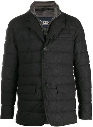 Herno layered-effect padded blazer