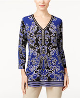 JM Collection Printed Tunic, Only at Macy's