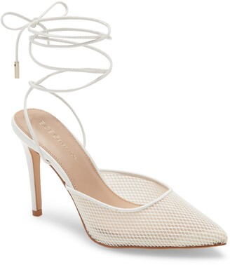 BCBGeneration Ankle Tie Pointed Toe Pump
