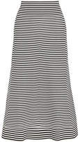 Sonia Rykiel Striped Cotton-blend Midi Skirt - Black