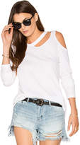 LnA Long Sleeve Slash Tee in White