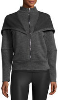 Alo Yoga Chill Hooded Sport Jacket, Jungle Heather