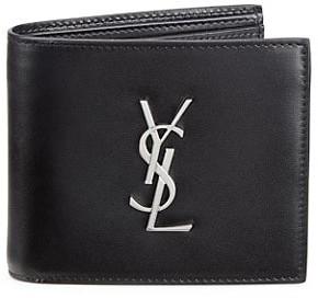 Saint Laurent Leather Credit Card Holder