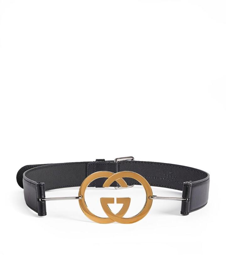 Gucci Leather Interlocking G Belt