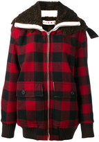 Marni oversized check bomber jacket