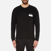 Ami Men's Oversized Crew Neck Sweatshirt Black