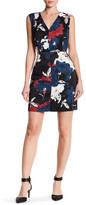 Cynthia Steffe Elodie Floral Printed V-Neck Dress