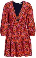 Derek Lam 10 Crosby Talia Floral Babydoll Dress