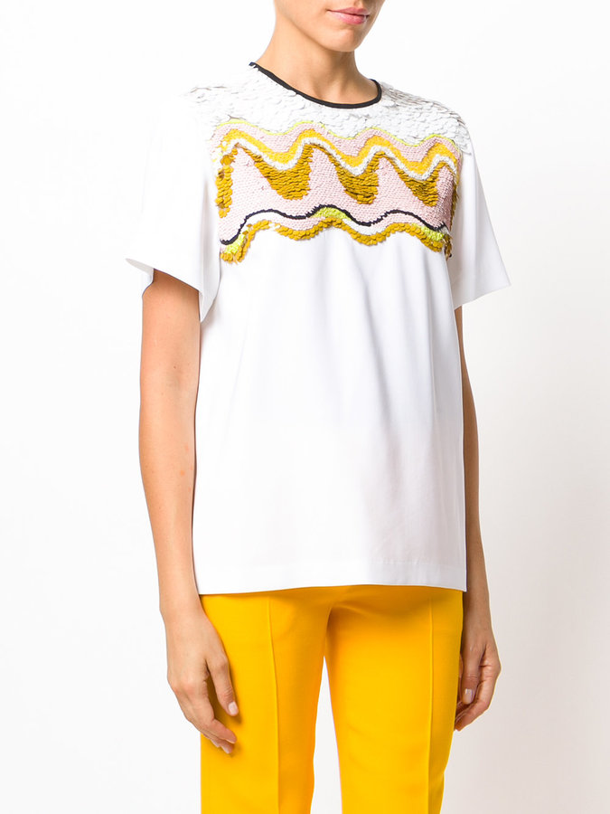 Emilio Pucci sequin embroidery T-shirt