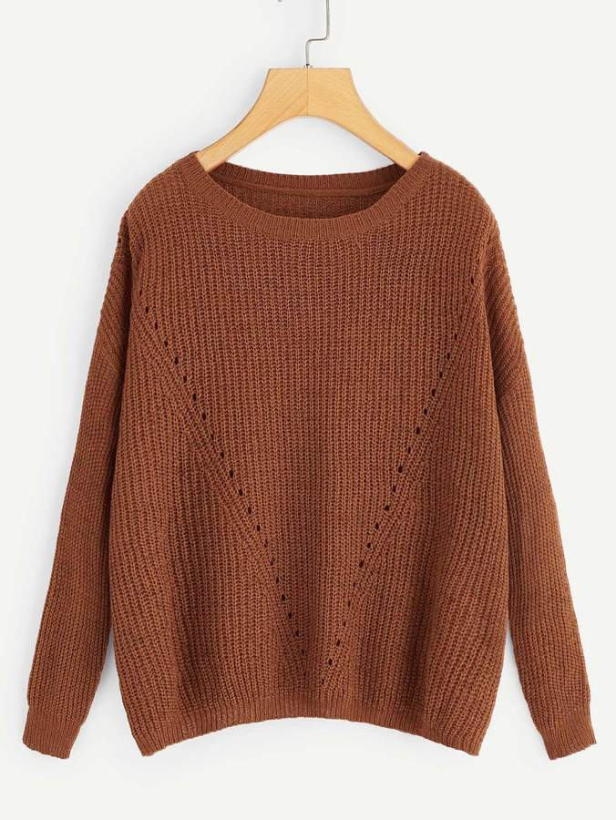 ddf358560e Solid Brown Sweaters - ShopStyle