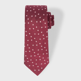 Paul Smith Men's Burgundy Star Pattern Narrow Silk Tie