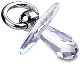 Swarovski Pacifier Figurine, rhodium-plated