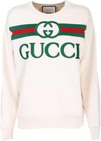 Gucci White Cotton Jersey Sweatshirt