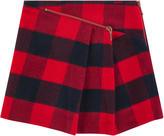 Junior Gaultier Checked wool blend skirt