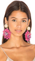 Mercedes Salazar Pasionaria Flower Earrings in Pink.