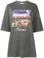Balenciaga Paris motif oversized T-shirt - women - Cotton - L