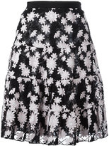 Giambattista Valli embroidered flower skirt