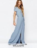Glamorous Button Front Maxi Tea Dress