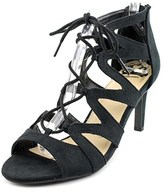 Fergalicious Heartthrob Women Round Toe Synthetic Black Heels.